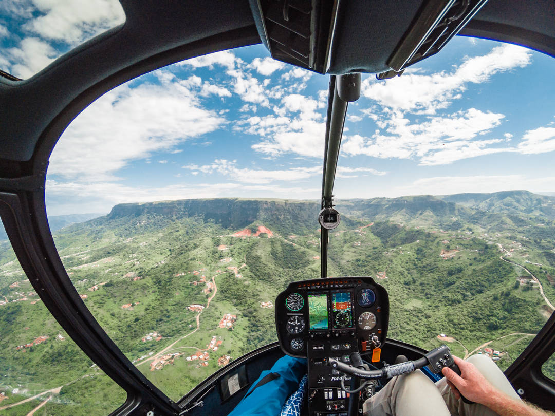 Helicopter Flight Valley of a 1000 Hills