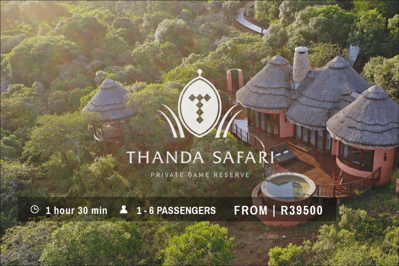 Thanda Safari Helicopter Transfer