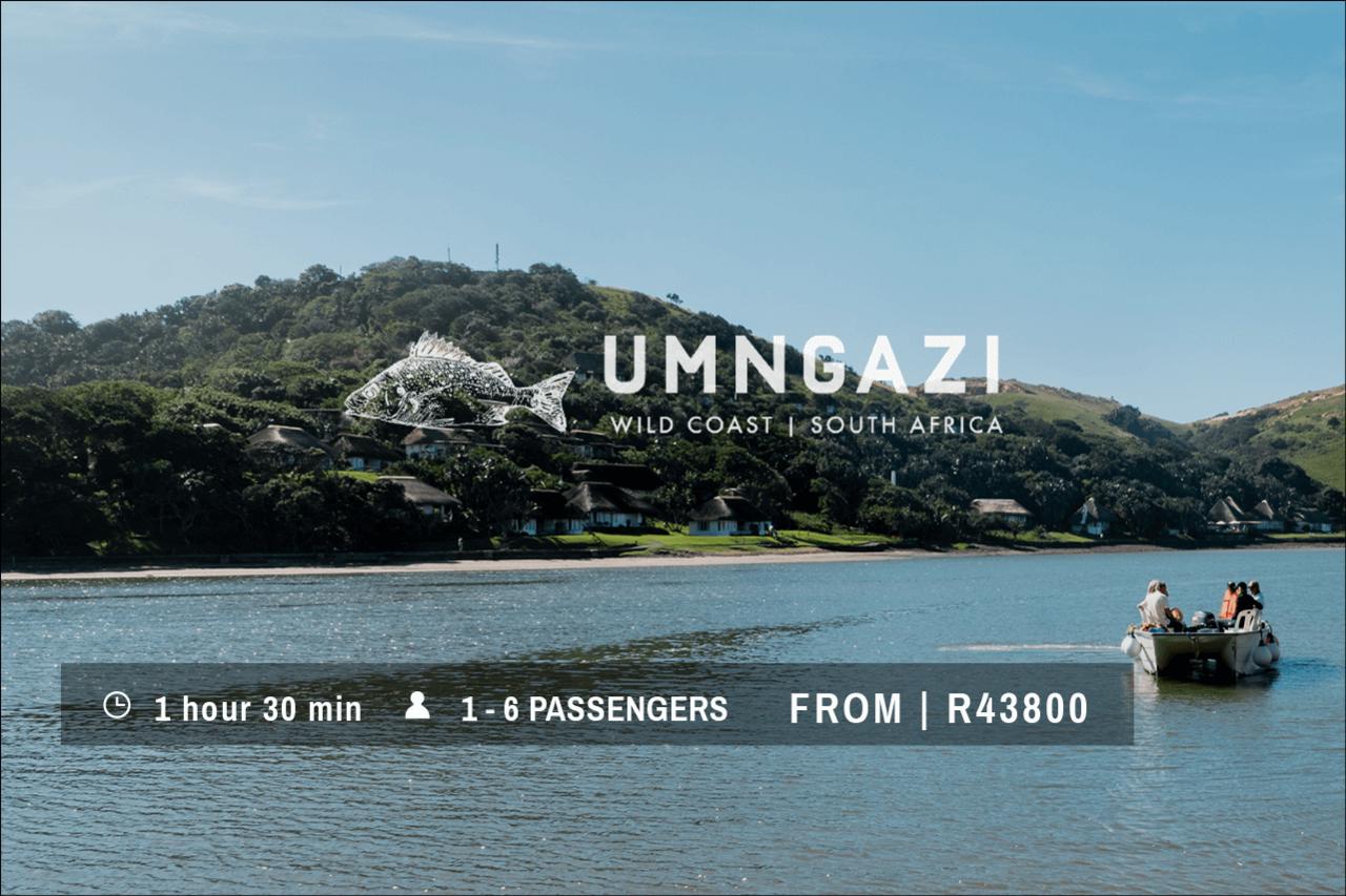 Umngazi River Bungalows Transkei Helicopter flight