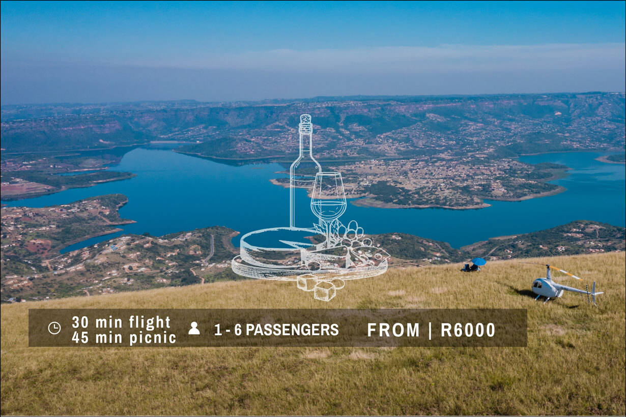 Helicopter Flight | Picnic on Inanda Mountain - In