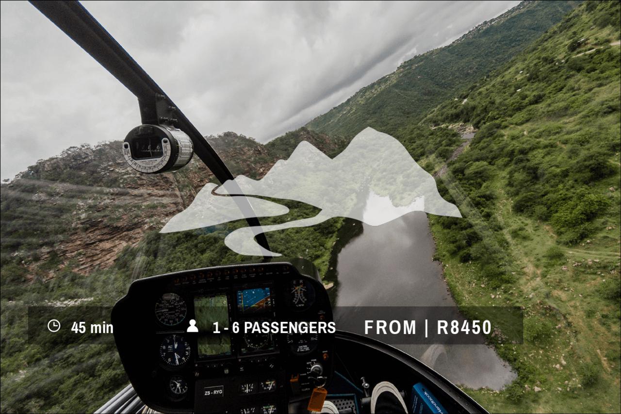 Helicopter Flight | Adventure Flight - Umgeni Rive