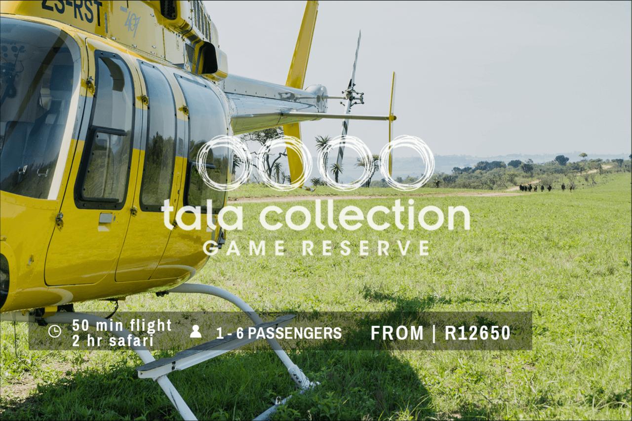 Tala Game Reserve Durban Helicopter Safari