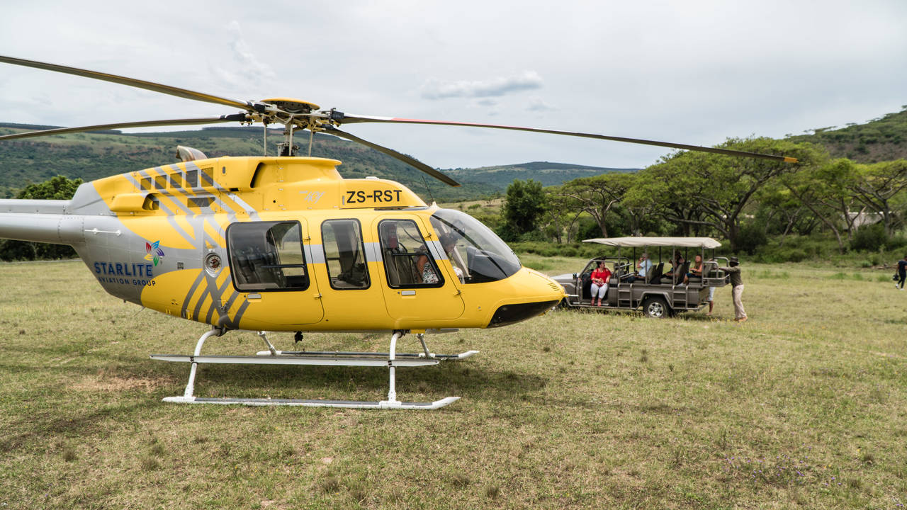 Karkloof Safari Villa and Spa Helicopter Flights